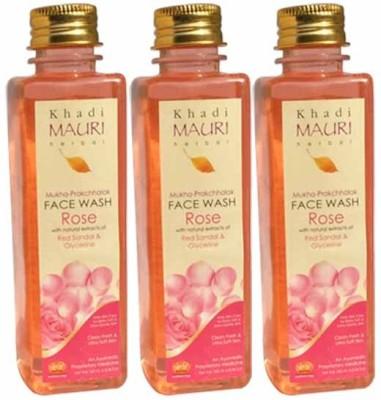 Khadimauri Rose Face Wash - Pack of 3 - Premium Herbal Face Wash