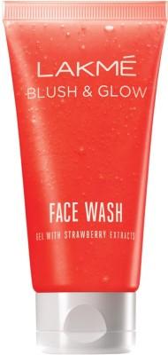 Lakme Blush & Glow Strawberry Gel Face Wash(50 g)
