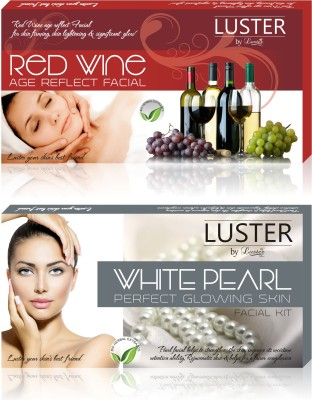 Luster Red Wine & White Pearl Facial Kit (New Pack) 290 g