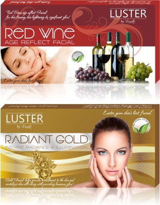 Luster Red Wine & Radiant Gold Facial Kit (New Pack) 290 g