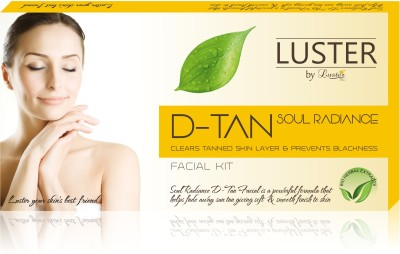 Luster Soul Radiance D-TAN Facial Kit For Tan Removal (New Pack) 175 g