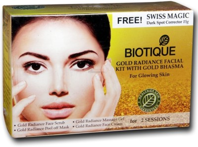 Biotique Gold Radiance Facial Kit With Gold Bhasma For Glowing Skin 60 g
