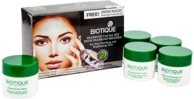 Biotique Diamond Facial Kit With Diamond Bhasma (Set of 2) 180 g