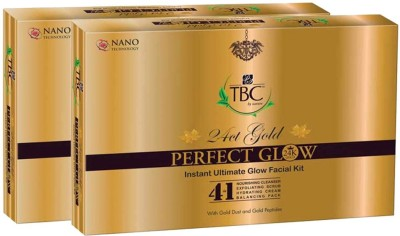 TBC by Nature 24 Ct Gold Perfect Glow Instant Ultimate Facial Kit 110 g