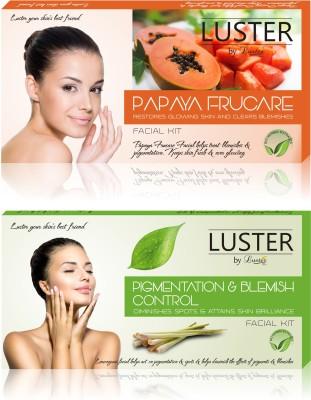 Luster Papaya Frucare & Pigmentation & Blemish Control Facial Kit (New Pack) 290 g
