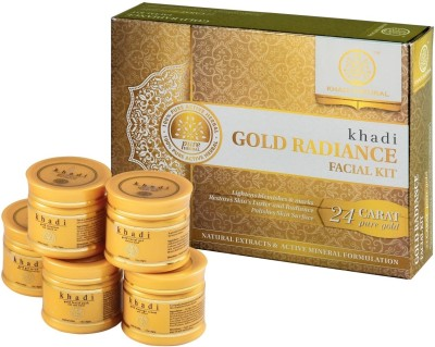 Khadi Natural Gold Radiance Facial Kit 250 g(Set of 5)
