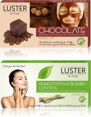 Luster Chocolate & Pigmentation Blemish Control Facial Kit (New Pack) 290 g