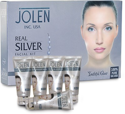 Jolen Real Silver Facial Kit - (Tube) 250 ml
