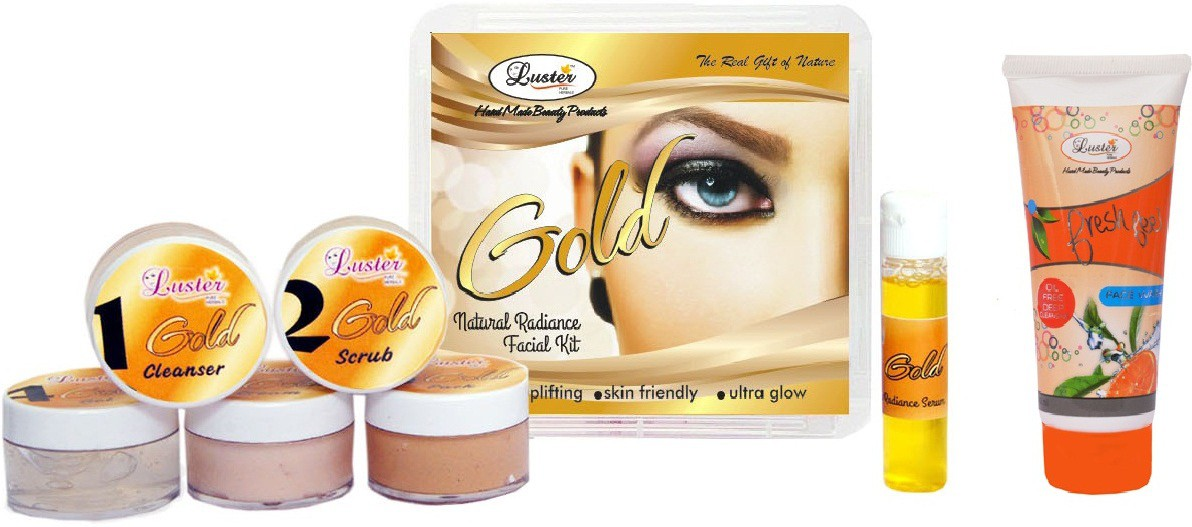 Luster Gold Facial Kit (Skin Radiance & Glow) 150 g(Set of 1)