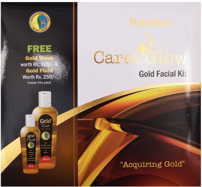 Nandini Herbal Care Nandini Caret Glow Gold Facial Kit, 300g + 140ml 440