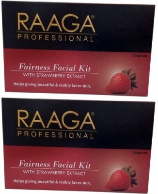 Raaga Professional Fairness Facial Kit with Strawberry Extract 43 g