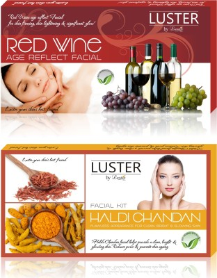 Luster Red Wine & Haldi Chandan Facial Kit (New Pack) 290 g