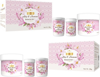Richfeel Lily And Jasmine Bleach Kit (Pack Of 2) 28 g(Set of 2)