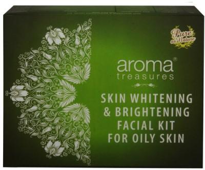 Aroma Treasures Skin Whitening & Brightening Facial Kit for Oily Skin 225 g