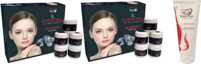 Everfine Diamond Facial Kit Pack Of 2 Get A Facewash 100ml Free 185 g
