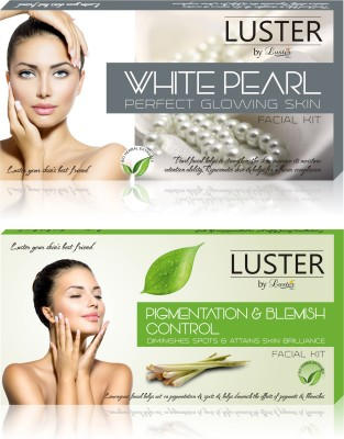 Luster White Pearl & Pigmentation & Blemish Control Facial Kit (New Pack) 290 g