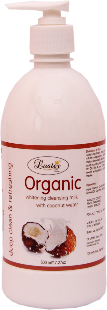 Luster Organic Coconut Cleansing Milk(500 ml)