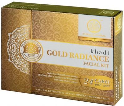khadi Natural Natural Gold Radiance Facial Kit 250 g