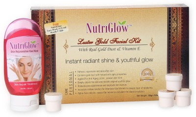 NutriGlow Luster Gold Facial Kit with free NutriGlow Face Wash 190 g