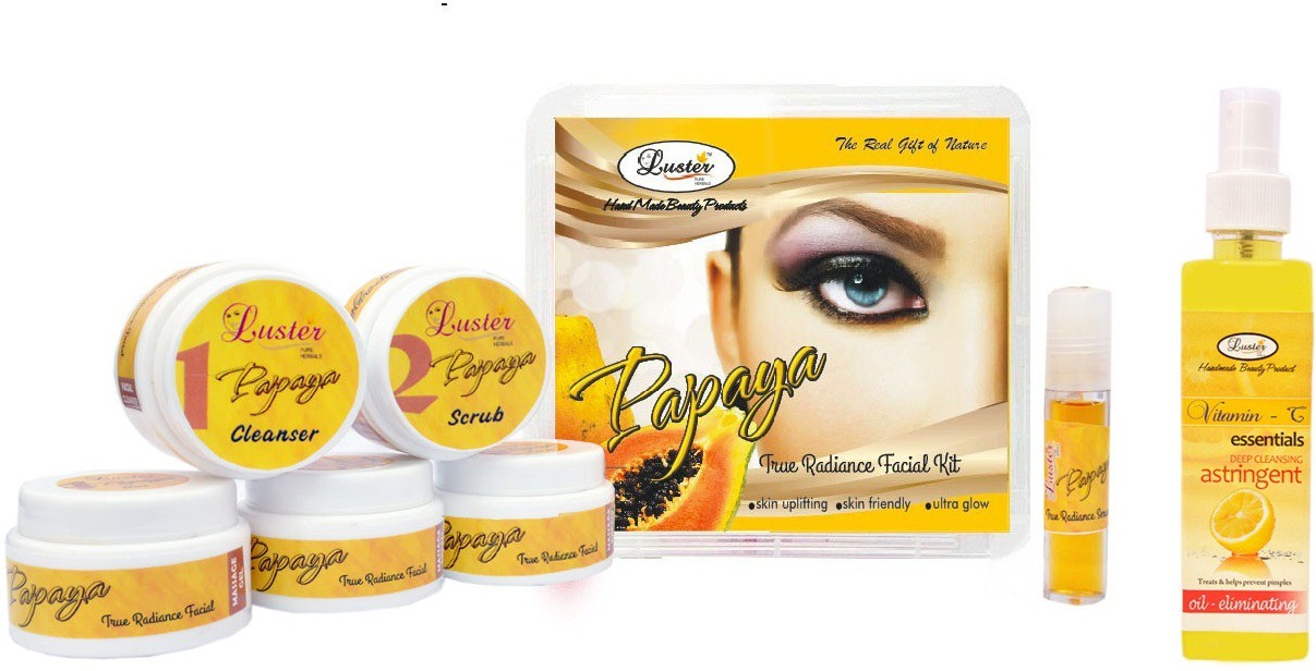 Luster Papaya Facial kit (Anti-Blemish & Dark spot reduction) 285 g(Set of 1)