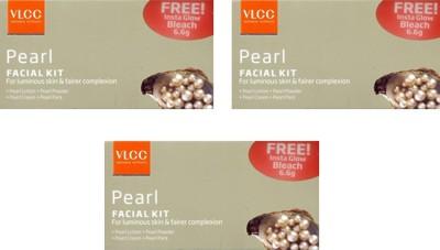 VLCC Pearl Facial Kit Pack of 3 140 g