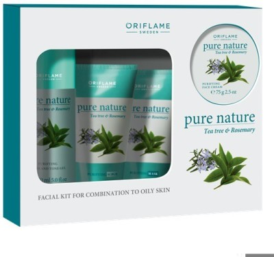 Oriflame Pure Nature Tea Tree and Rosemary Facial Kit for Combination to Oily Skin 425 g