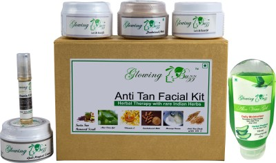 Glowing Buzz Herbal Anti Tan Facial Kit with Insta Glow and Fair Skin treatment 280 g