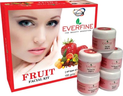 Everfine Fruit Facial Kit 185 g(Set of 5)