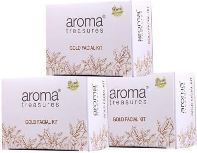 Aroma Treasures Golden Glow Kit (single time use) 30g (Pack Of 3) 90 g