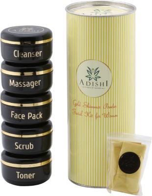 Adishi Gold Shimmer Powder Facial Kit For Women 300 g