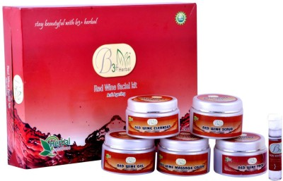 B 3+ Herbal Red Wine Facial Kit 300 g