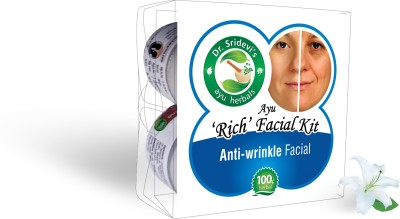 Dr. Sridevi's Ayu ,Rich, Facial Kit-Anti-wrinkle Facial 200 g
