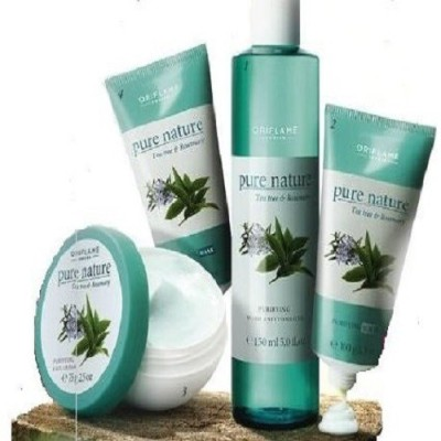 Pure Nature Tea Tree And Rosemary Facial Kit For Combination To Oily Skin 380 g
