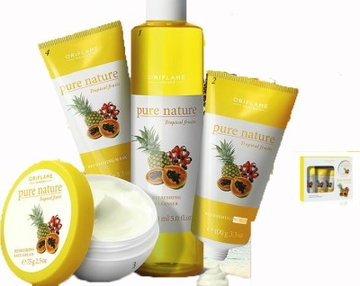 Pure Nature Tropical Fruits Facial Kit For Normal To Dry Skin 400 g