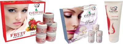 Everfine Facial Peral & Fruit Kit Pack Of 2 Get A Facewash 185 g