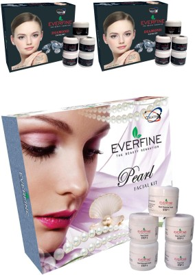Everfine Everfne Diamond 2*185gm, Pearl 185gm Facial kit 555 g