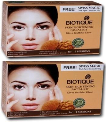 Biotique Skin Tightening Facial Kit Pack of 2(set of 4) 120 g