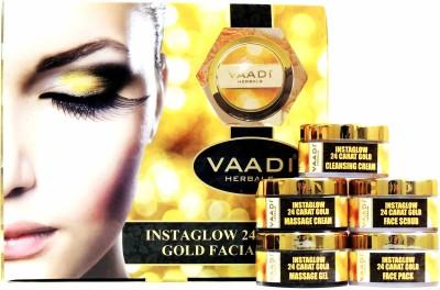 Vaadi Herbals Instaglow 24 Carat Gold Facial Kit 270 g