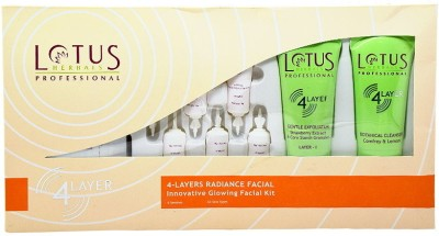 Lotus Professional 4 Layers Radiance Facial Innovative Glowing Facial Kit 380 g