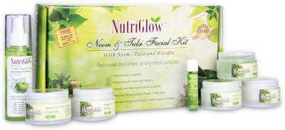 NutriGlow Neem & Tulsi Facial Kit with free NutriGlow Green Apple Skin Toner 430 g