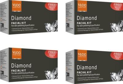 VLCC Diamond Facial Kit Pack of 4 148 g