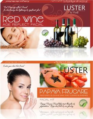 Luster Red Wine & Papaya Frucare Facial Kit (New Pack) 290 g