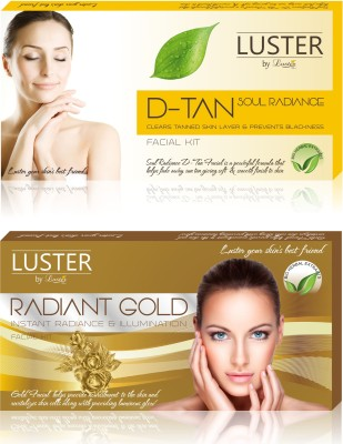 Luster Soul Radiance D-Tan & Radiant Gold Facial Kit (New Pack) 290 g