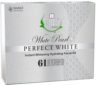 TBC by Nature White Pearl Perfect White Instant Whitening Hydrating Facial Kit 250 gm