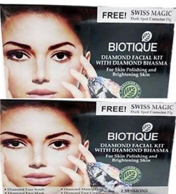 Biotique Diamond Facial kit With Diamond Bhasma pack of 2(set of 4) 120 g