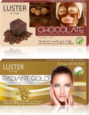 Luster Chocolate & Radiant Gold Facial Kit (New Pack) 290 g