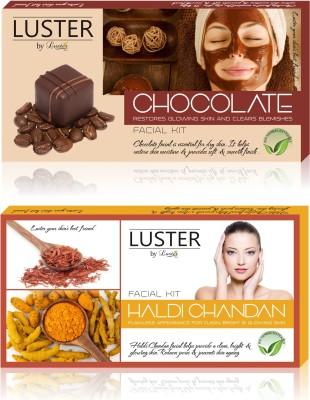 Luster Chocolate & Haldi Chandan Facial Kit (New Pack) 290 g