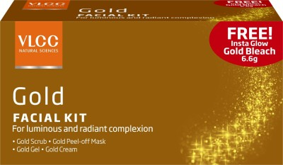 VLCC Gold Single Facial Kit with Offer(Set of 4)