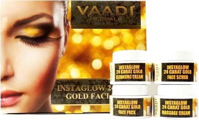 Vaadi Herbals Instaglow 24 Carat Gold Facial Kit 70 g