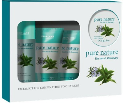 Pure Nature Tea Tree Facial Kit 350 ml(Set of 4)